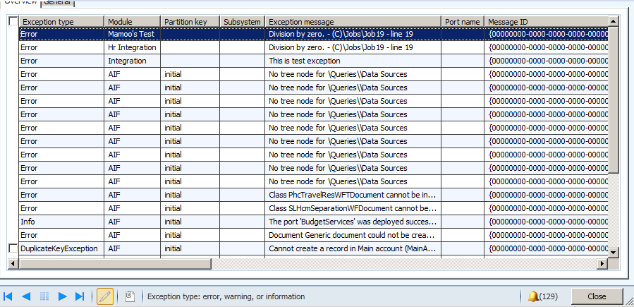How to get exception detail and log into SysExpectionTable. Dynamics Ax 2012