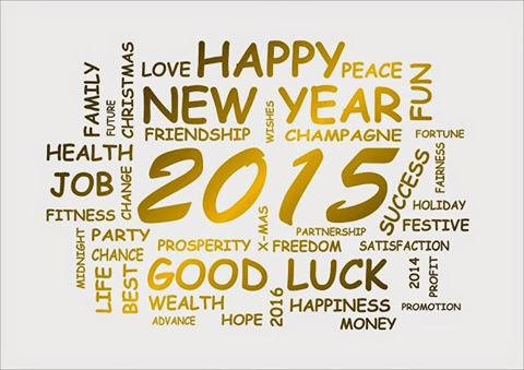 Happy New year, best wishes for 2015