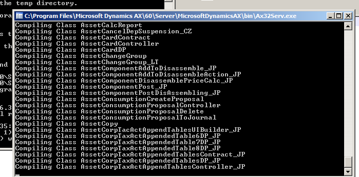 Using AXBuild for fast compilation in  Dynamics Ax 2012 R3