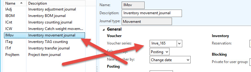 Invent Journal and its relation with Voucher sequence number Dynamics Ax 2012 R3