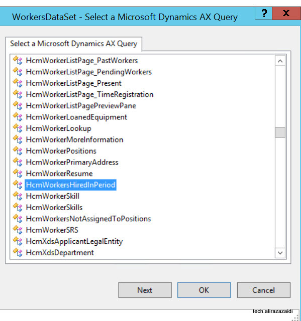 Display methods in Report  SSRS Dynamics Ax 2012 .