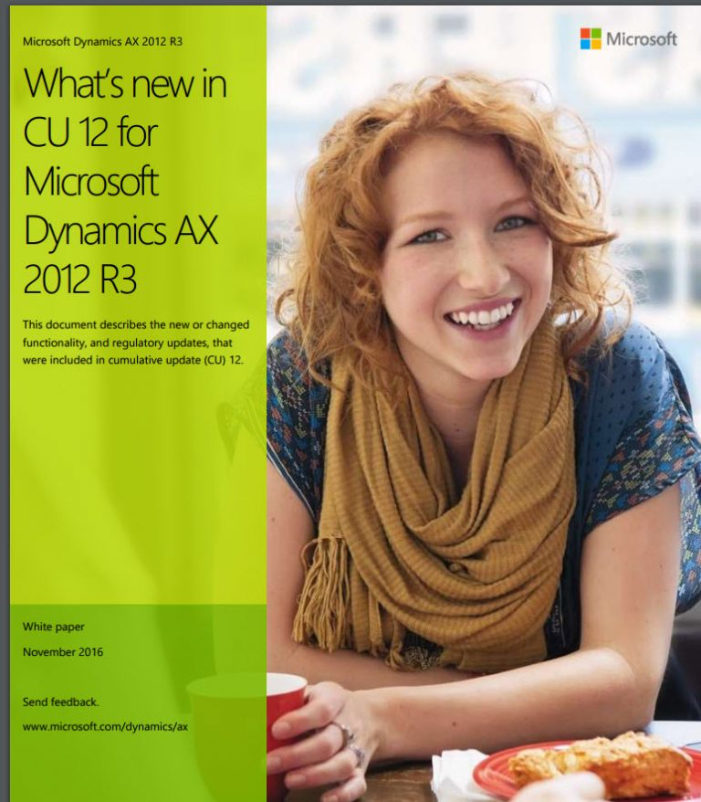 What's New In Dynamics Ax 2012 R3 Cu12
