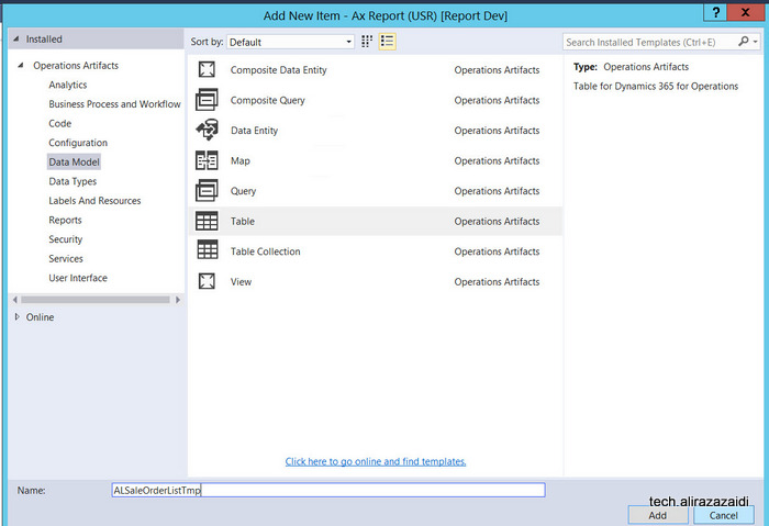 Customization in Dynamics 365 for operation (Dynamics AX, AX 7) – Part 7 Custom SSRS based on Report Data provider.
