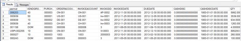 Relation between VendInvoiceInfoTable and VendInvoiceJour Dynamics Ax 2012 R3