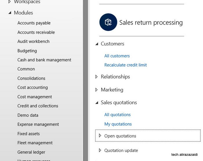 Sales Quotations Dynamics 365 for Finance and operations.